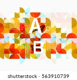 abstract circle geometric... | Shutterstock .eps vector #563910739