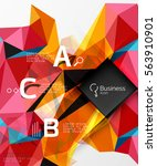 polygonal triangle abstract... | Shutterstock .eps vector #563910901
