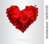 red heart | Shutterstock . vector #56391535