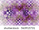 Abstract Checkered Texture Wit...