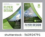 greenery brochure layout design ... | Shutterstock .eps vector #563924791