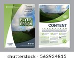 greenery brochure layout design ... | Shutterstock .eps vector #563924815