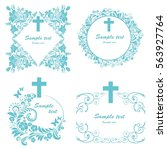 obituary notice   art deco... | Shutterstock .eps vector #563927764