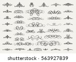 vintage decor elements and... | Shutterstock .eps vector #563927839