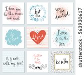 trendy valentines day... | Shutterstock .eps vector #563930617