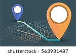 gps navigator point to point on ... | Shutterstock .eps vector #563931487