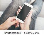 smartphone mockup | Shutterstock . vector #563932141