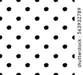 grunge polka dot. grungy dotted ... | Shutterstock .eps vector #563932789