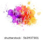 watercolor imitation... | Shutterstock .eps vector #563937301