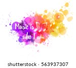 music notes on colorful... | Shutterstock .eps vector #563937307