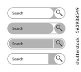 search line  set. vector... | Shutterstock .eps vector #563938549