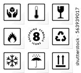 packaging symbols handle with... | Shutterstock .eps vector #563939017