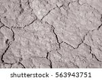 dry ground in dought at... | Shutterstock . vector #563943751