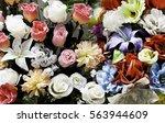 center grooms roses in bridal... | Shutterstock . vector #563944609