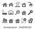 real estate black and white... | Shutterstock .eps vector #563950135