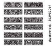 floral patterned vintage... | Shutterstock .eps vector #563953069