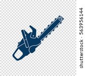 chainsaw vector icon | Shutterstock .eps vector #563956144