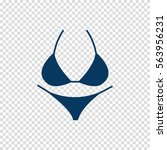 bikini vector icon | Shutterstock .eps vector #563956231