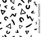decorative seamless pattern... | Shutterstock . vector #563958565