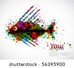abstract circle background  ... | Shutterstock .eps vector #56395900