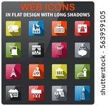 infrastructure icons set in... | Shutterstock .eps vector #563959105