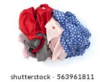 pile of dirty cloth laundry... | Shutterstock . vector #563961811