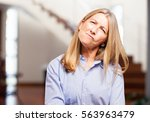 senior beautiful woman doubting | Shutterstock . vector #563963479