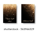 set of backgrounds with shining ... | Shutterstock . vector #563966329