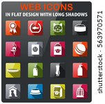 goods for pets icons set in... | Shutterstock .eps vector #563970571