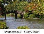 Japanese bridge in the Missouri Botanical Garden