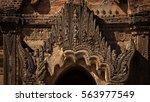 detail of ancient carved... | Shutterstock . vector #563977549