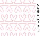 seamless nautical romantic rope ...   Shutterstock . vector #563981269