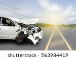 car of accident make front... | Shutterstock . vector #563984419