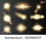 set. shining star  the sun... | Shutterstock .eps vector #563986957