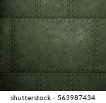 metal green armor background... | Shutterstock . vector #563987434