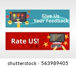 feedback or rating system... | Shutterstock .eps vector #563989405