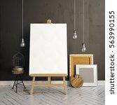 3d illustration  interior... | Shutterstock . vector #563990155
