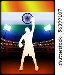 india boxing on stadium... | Shutterstock .eps vector #56399107