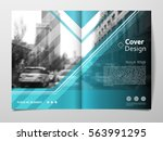 cover design template for... | Shutterstock .eps vector #563991295