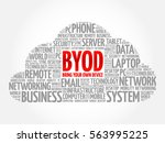 byod   bring your own device... | Shutterstock . vector #563995225