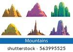 vector set of six cartoon... | Shutterstock .eps vector #563995525