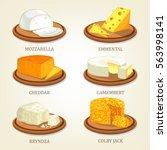 italian dairy mozzarella and... | Shutterstock .eps vector #563998141