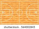 basketball court  parquet.... | Shutterstock .eps vector #564002845