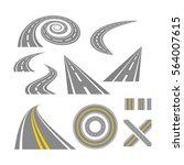 asphalt curved roads. highway...   Shutterstock . vector #564007615