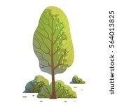 vector cartoon image of an oval ... | Shutterstock .eps vector #564013825