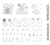 mega pack of weather icons with ... | Shutterstock .eps vector #564016321