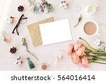 stylish branding mockup to... | Shutterstock . vector #564016414