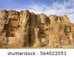 persian tombs for kings in... | Shutterstock . vector #564022051