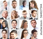 collage of business people.... | Shutterstock . vector #564027544