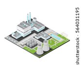 vector isometric nuclear power...   Shutterstock .eps vector #564031195